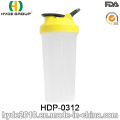 2017 Portable BPA FREI PP Pulver Shaker Flasche, Kunststoff Protein Schütteln Flasche (HDP-0312)