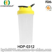 2017 bouteille de secoueur de poudre libre de BPA portatif, bouteille en plastique de secousse de protéine (HDP-0312)