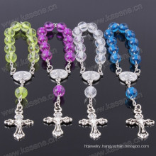 Cheap Pretty Mother of Acrylic Beads and Cross Rosary Bracelet