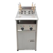 Tipo de gas cocina eléctrica de cuatro canastas para pasta