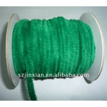 6mm green chenille stem for event decoration