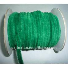 Haste verde do chenille de 6mm para a decoração do evento