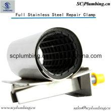 Pince de réparation de fuite de tuyau Full Circle en acier inoxydable à 100%