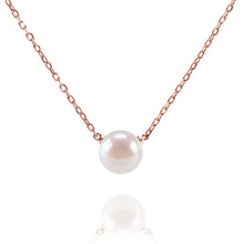 Handpicked   Freshwater Cultured Single Pearl Necklace Pendant Gold Necklaces for Women