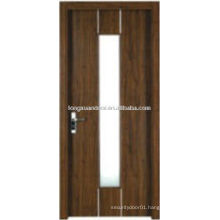 WPC PVC toilet glass design, bathroom door with frosted glass