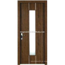 WPC PVC design de vidro de banheiro, porta de banheiro com vidro fosco
