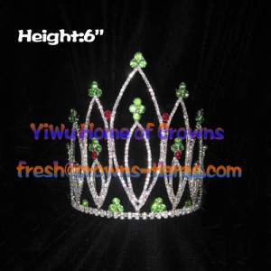 Winner Pageant Crowns With Green And Red Diamonds