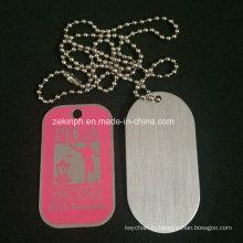 Custom Aluminum Photo-Etched Soft Enamel Dog Tag for Promotion