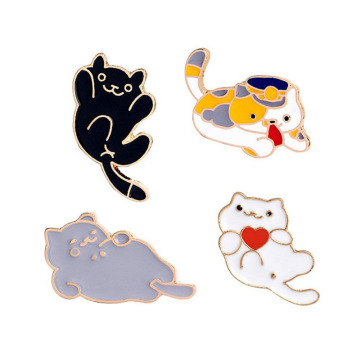 High Quality Metal Cute Cat Enamel Pin