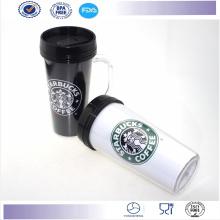 Nouveau mur CEINTUREUSE Coffee Mug avec poignée Promotion Travel Mug tasse en plastique