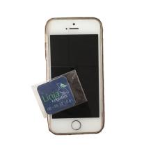 Atacado telefone limpador de tela de microfibra quadrado impresso pegajoso