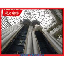 Verre avec cadre en acier inoxydable Observation de visites Ascenseur Ascenseur