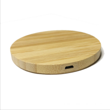 Hot Sell Round Shape Wireless Charger Wooden Wireless Charger 5W Wireless Charging