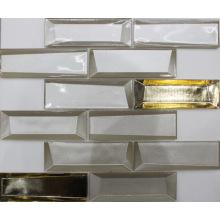 Mosaico de cristal de vidro 3D simples