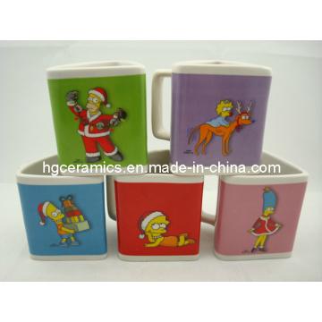 Christmas Pringting Mug, Triangle Mug