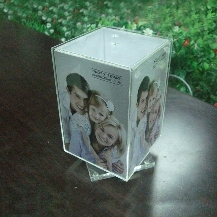 Acrylic Photo Cube Frame