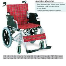 Nylon Upholstery Seat Aluminum Wheelchair