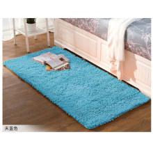 Blauer handgemachter Chenille-Teppich
