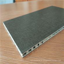 Paneles de panal de aluminio de color negro