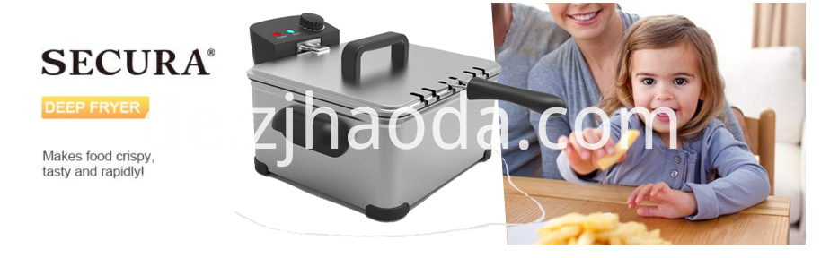 Large Stainless Steel Electric Deep Fryer