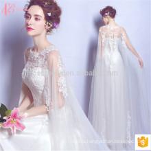 2017 новый дизайн рукавов кружева шаль тонкой пригонки плюс Размер свадебное платье