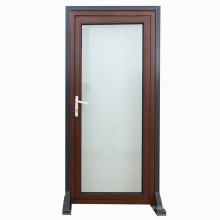 Porte battante en aluminium ouvrant à l'extérieur / à l'intérieur de la porte pivotante