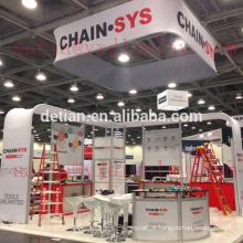 fábrica de stands modulares 20 por 20, para a empresa CHAIN SYS