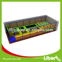 China commercial kids gymnastics indoor trampoline bed with foam pit