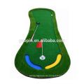 Heißer verkauf Customized 3'x9 'Fuß-form Gummi Golfmatte Indoor Mini Golf Putting Matte