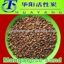 Meios de tratamento de água Manganês Meios filtrantes de areia para filtração de ferro