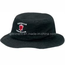 Bouchon de chapeau de seau de pêcheur à la broderie lavée de qualité supérieure (TRBH002B)