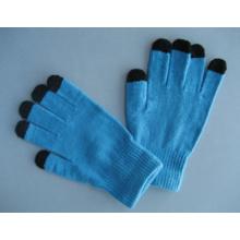 Gant de travail d'écran tactile de cinq doigts de doublure de polyester de 10g