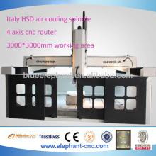 ELE-3030-4A 4 axes fraiseuse cnc avec haute précision
