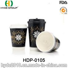 Double paroi épaissir papier tasse à café avec Logo personnalisé