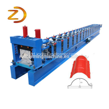 Metal Ridge Cap Tile Mesin Roll Forming Dingin