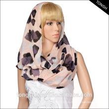 Бесконечность мода Леди шарф Loop шарф с заказной печати voile шарф