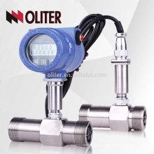 LWGY fabricant haute précision 4-20 mA impulsion 24 V CC intelligent huile liquide gaz turbine débitmètre avec LCD