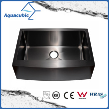 Black Color Single Bowl Stainless Steel Handmade Kitchen Sink (ACS3021A1-B)