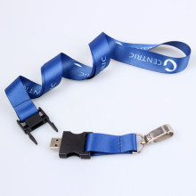Nouveaux produits courroie de cou Lanyard USB Flash Drives