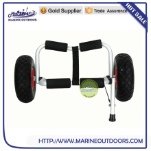 Marine aluminum beach cart with pneumatic wheels for trailer