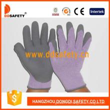 Guantes de seguridad recubiertos de látex de espuma de hilo de punto (DKL417)