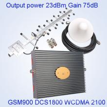2g 3G 4G de señal de refuerzo / repetidor 2g 3G 4G de señal de refuerzo repetidor, repetidor 2g 3G 4G interior de triple banda de refuerzo con precio barato