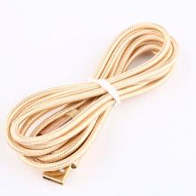 2M 24K Gold Metall Ladegerät Ladekabel Kabel Micro USB 2.0 Datenkabel für Nintendo NDSI / NDSIXL / 2DS / 3DS / NEU 3DS / 3DSXL