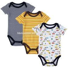 China Lieferant Kleinkind Jumper Playsuit 3 Pack Baby Kurzarm Neugeborenen Jungen Strampler