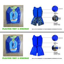Sun Protection Kids Swim Float Suit Swimwear / Floatation Swim Suit / Boy Play In Water