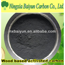 325 poudre de charbon activé à base de bois de maille pour la décoloration