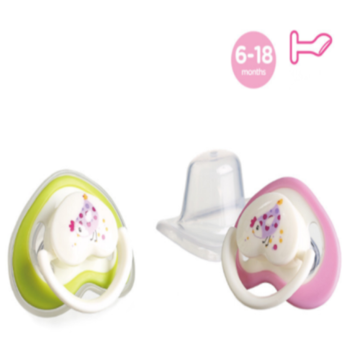 Flat Heart Shape Nipple Baby Silikon Pacifier