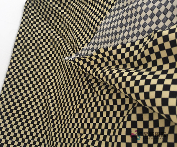 Fashionable Checkered Pattern Design 100% Rayon Woven Fabric (2)