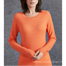 17PKCS503 2017 knit wool cashmere knitted lady sweater