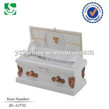 caixão de bebê de madeira de cor branca